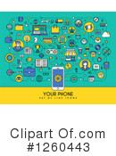 Cell Phone Clipart #1260443 by elena