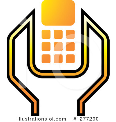 Cell Phone Clipart #1277290 by Lal Perera