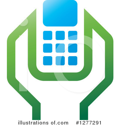 Cell Phone Clipart #1277291 by Lal Perera