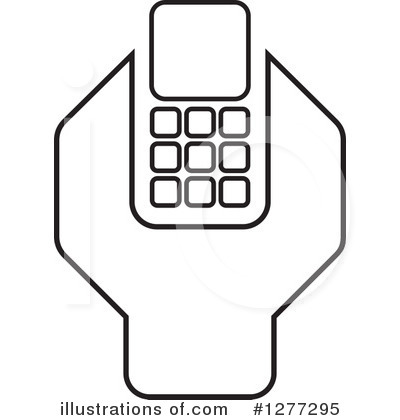 Cell Phone Clipart #1277295 by Lal Perera