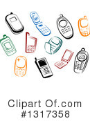 Cell Phone Clipart #1317358 by Vector Tradition SM