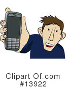 Royalty-Free (RF) cell phone Clipart Illustration #13922