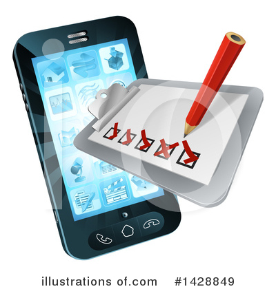 Royalty-Free (RF) Cell Phone Clipart Illustration by AtStockIllustration - Stock Sample #1428849