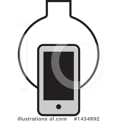 Cell Phone Clipart #1434892 by Lal Perera