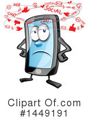 Cell Phone Clipart #1449191 by Domenico Condello