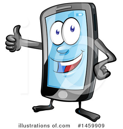 Royalty-Free (RF) Cell Phone Clipart Illustration by Domenico Condello - Stock Sample #1459909