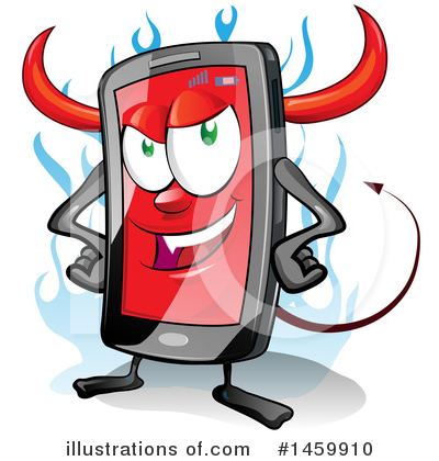 Devil Smart Phone Clipart #1459910 by Domenico Condello
