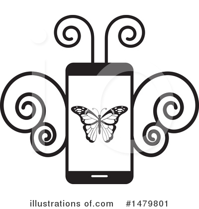 Butterfly Clipart #1479801 by Lal Perera