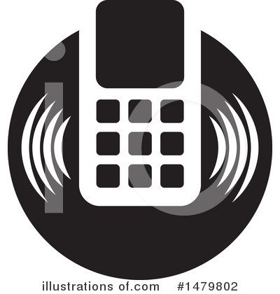 Cell Phone Clipart #1479802 by Lal Perera