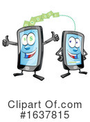 Cell Phone Clipart #1637815 by Domenico Condello