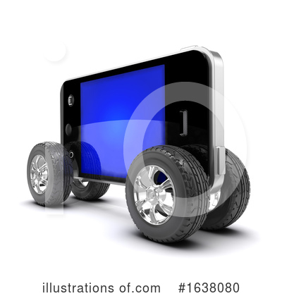 Cell Phone Clipart #1638080 by Steve Young