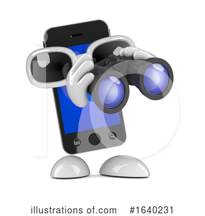 Royalty-Free (RF) Cell Phone Clipart Illustration by Steve Young - Stock Sample #1640231