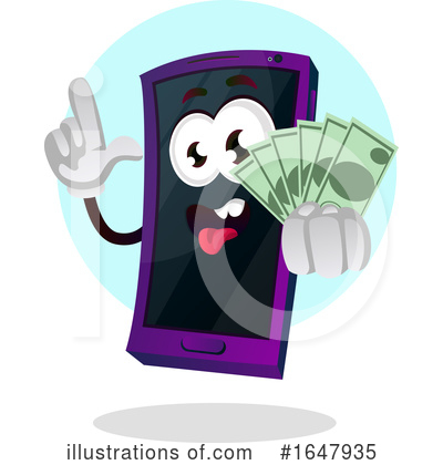 Cell Phone Clipart #1647935 by Morphart Creations