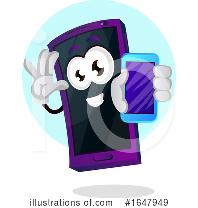 Cell Phone Clipart #1647949 by Morphart Creations