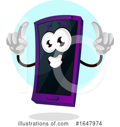 Royalty-Free (RF) Cell Phone Clipart Illustration by Morphart Creations - Stock Sample #1647974