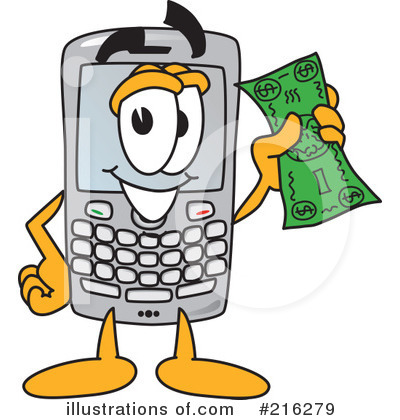 Cell Phone Character Clipart #216279 by Toons4Biz