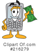 Cell Phone Clipart #216279 by Toons4Biz