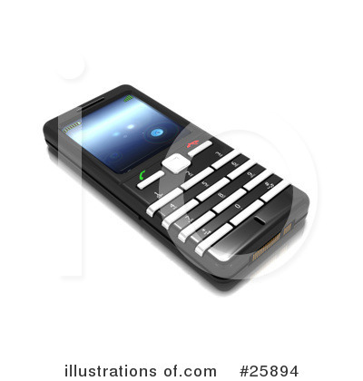 Royalty-Free (RF) Cell Phone Clipart Illustration by KJ Pargeter - Stock Sample #25894