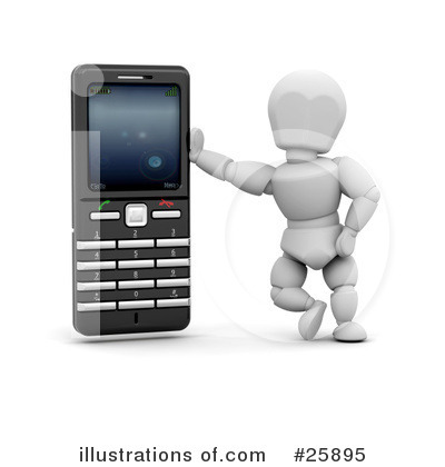 Royalty-Free (RF) Cell Phone Clipart Illustration by KJ Pargeter - Stock Sample #25895