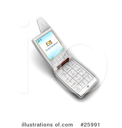 Cell Phone Clipart #25991 by KJ Pargeter