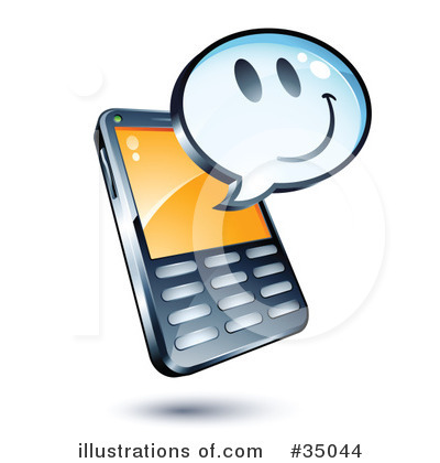 Cell Phone Clipart #35044 by beboy | Royalty-Free (RF) Stock Illustrations