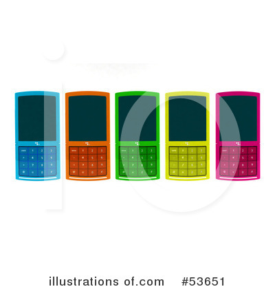 Cell Phone Clipart #53651 by Julos