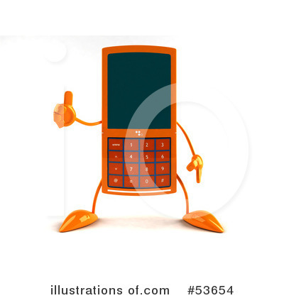 Cell Phone Clipart #53654 by Julos