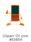 Royalty-Free (RF) cell phone Clipart Illustration #53654