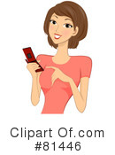 Royalty-Free (RF) cell phone Clipart Illustration #81446
