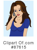 Royalty-Free (RF) cell phone Clipart Illustration #87615