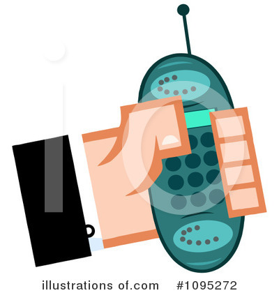 Cell Phone Clipart #1095272 by Hit Toon