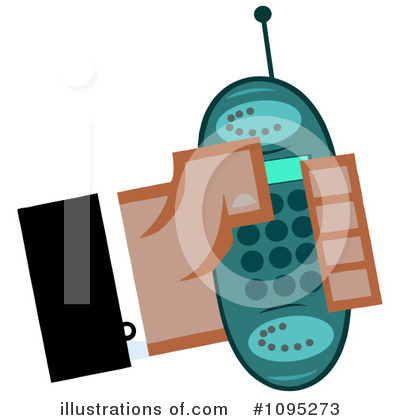 Cell Phone Clipart #1095273 by Hit Toon