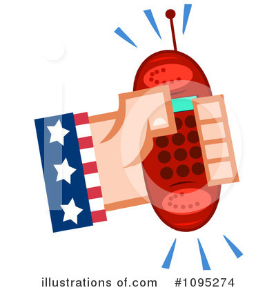 Cell Phone Clipart #1095274 by Hit Toon