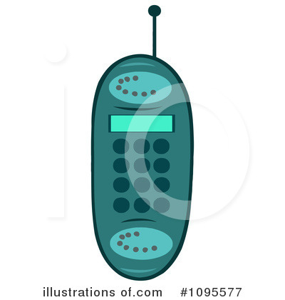Cell Phone Clipart #1095577 by Hit Toon