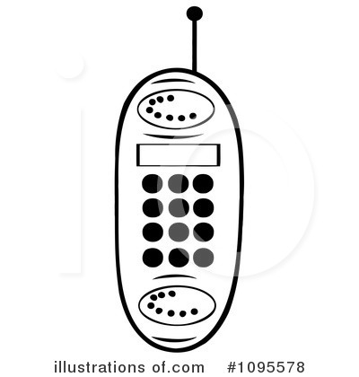 Cellphone Clipart #1095578 by Hit Toon