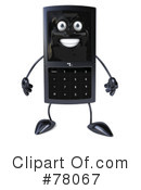 Royalty-Free (RF) cellular phone character Clipart Illustration #78067