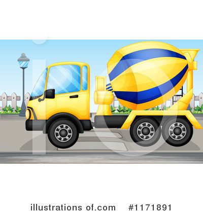 Royalty free rf cement truck clipart illustration by colematt