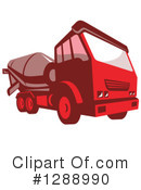 Cement Truck Clipart #1288990 by patrimonio