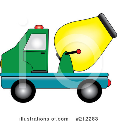 Royalty free rf cement truck clipart illustration by pams clipart