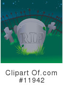 Royalty-Free (RF) Cemetery Clipart Illustration #11942