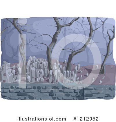 Cemetery Clipart #1212952 by BNP Design Studio