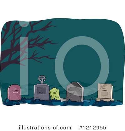 Cemetery Clipart #1212955 by BNP Design Studio