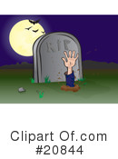 Royalty-Free (RF) cemetery Clipart Illustration #20844