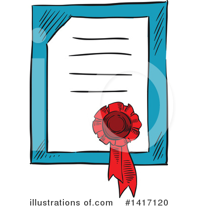 Award Ribbon Clipart #1417120 by Vector Tradition SM