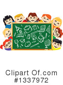 Royalty-Free (RF) Chalkboard Clipart Illustration #1337972