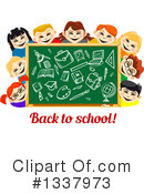 Royalty-Free (RF) Chalkboard Clipart Illustration #1337973