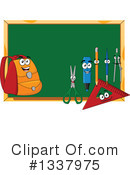 Royalty-Free (RF) Chalkboard Clipart Illustration #1337975