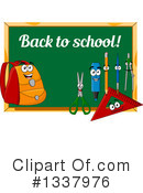 Royalty-Free (RF) Chalkboard Clipart Illustration #1337976