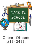Royalty-Free (RF) Chalkboard Clipart Illustration #1342488