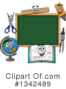 Royalty-Free (RF) Chalkboard Clipart Illustration #1342489